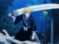 Ichigo with his zanpakutou.
